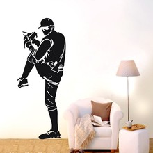 YOYOYU Baseball Athletes Removable Wall Stickers Decals Home Decor Mural Decoration Bedroom F