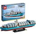 2017 Nuevo 1518 Unids LEPIN 22002 El Maersk Modelo de Barco de Contenedores de Carga Set Bloques de Construcción Ladrillos Educativos Juguetes de Regalo 10241