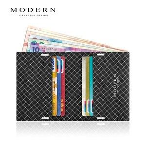 Image 1 - 現代のリップストップ生地二つ折りメンズ財布スーパースリムカードホルダー洗濯機耐久性と防水デザイナー財布有名な