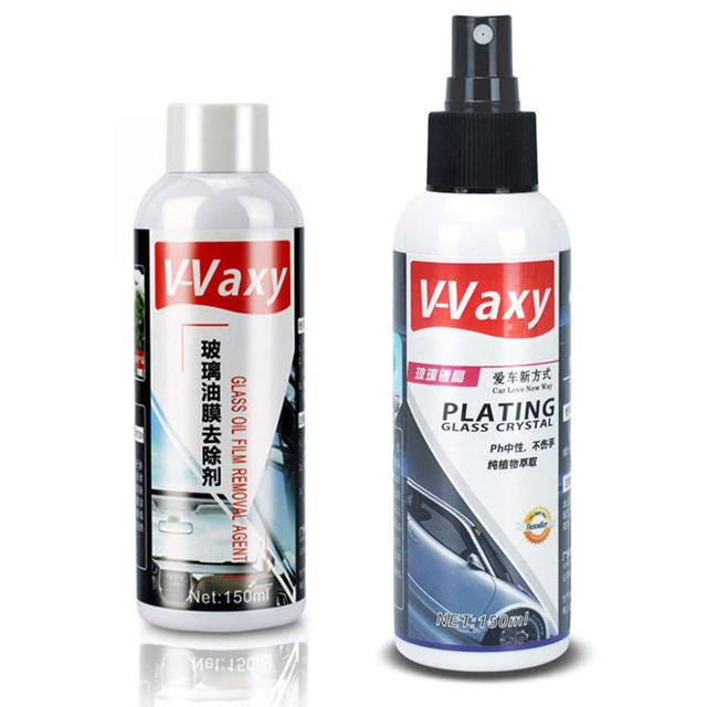 150ML Car Glass Coating Agent Rainproof Agent 9H Car Oil Film Remover Glass Rain Mark Windshield Plating Crystal Coating Agent