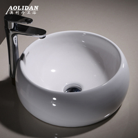 2017 Real Washbasin Rideau De Douche Bathroom Curtain Cortina Ducha Basin Ceramic Circular Platform Art Sink Wash Sanitary Ware