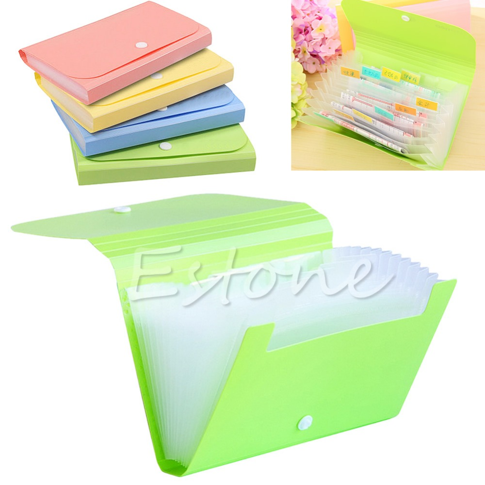 practical mini office file document bag pouch bills folder card holder fastener in card holder. Black Bedroom Furniture Sets. Home Design Ideas