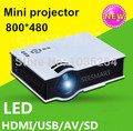 2015 Best Home Cinema Portable Pico LCD LED Video  HDMI USB 1080P HD Projector 3D Beamer projektor Proyector
