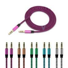 Câble Aux avec prise 1M, câble Audio de 3.5mm, cordon de haut parleur mâle vers mâle pour écouteurs JBL iphone Samsung, Aux