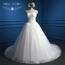Rose Moda Princess Ball Gown Strapless Wedding Dress 2019