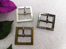 30pcs/lot 25mm 1 inch simple square alloy metal buckle with pin silver, black, bronze high polished belt buckle 2015061209