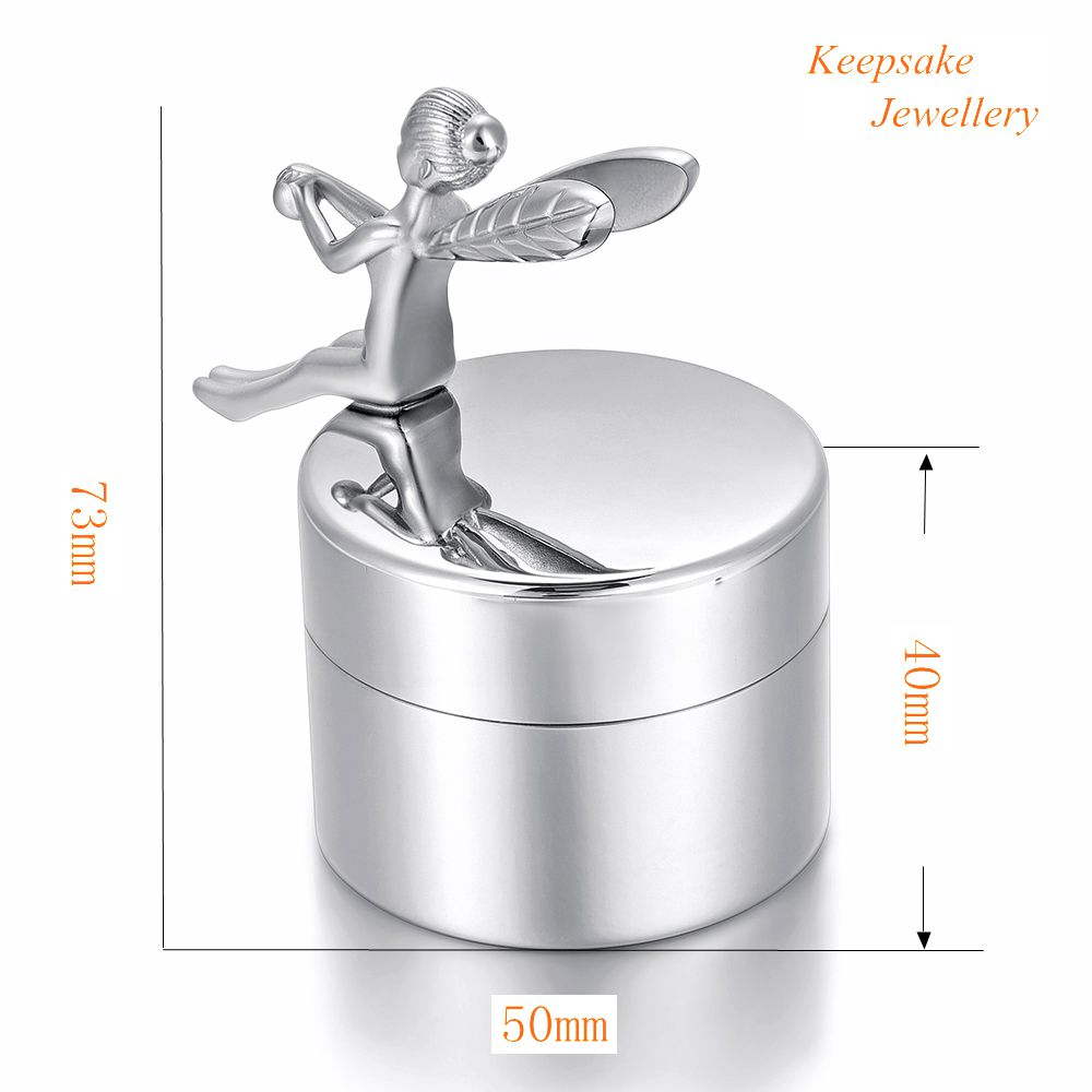 KSJ02 Adult Cremation Urns For Loved Ones Ashes Keepsake 316L Stainless Steel Cremation Jewelry Angel Rest