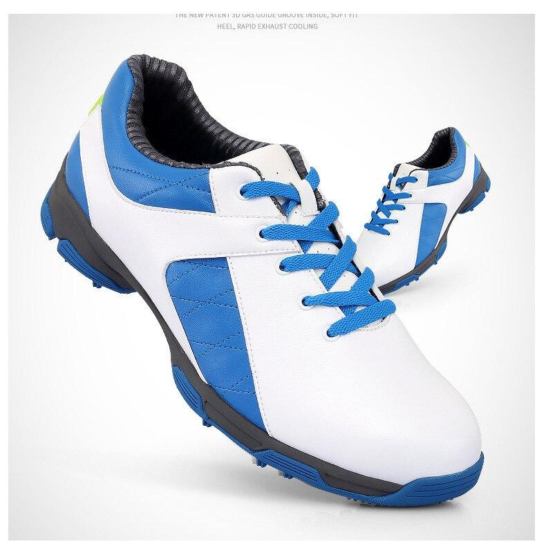 Hommes chaussures de Golf chaussures de sport de plein air imperméables EVA semelle intermédiaire en microfibre cuir respirant Anti dérapage clous pointes torsion - 2
