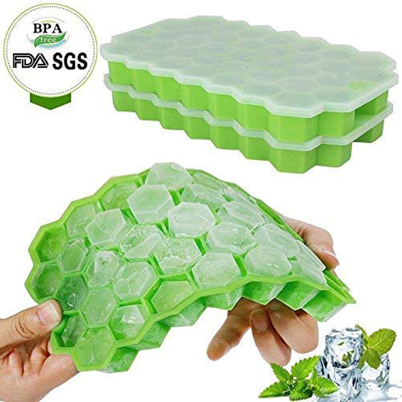 37 Cubes Honeycomb Shape Maker Silicone Ice Frozen Tray Mold Home Tools US SHIP