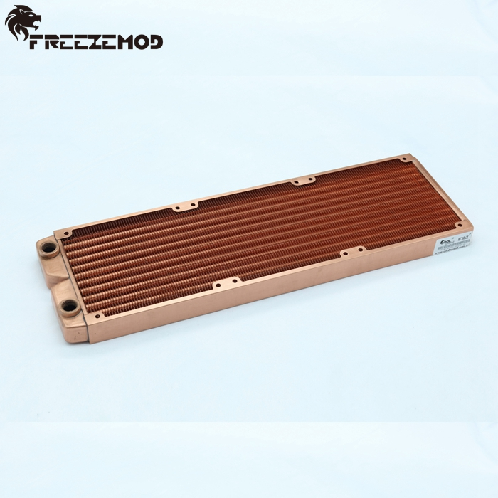 FREEZEMOD 360mm red copper computer water discharge liquid heat exchanger G1 4 thread radiator for 3