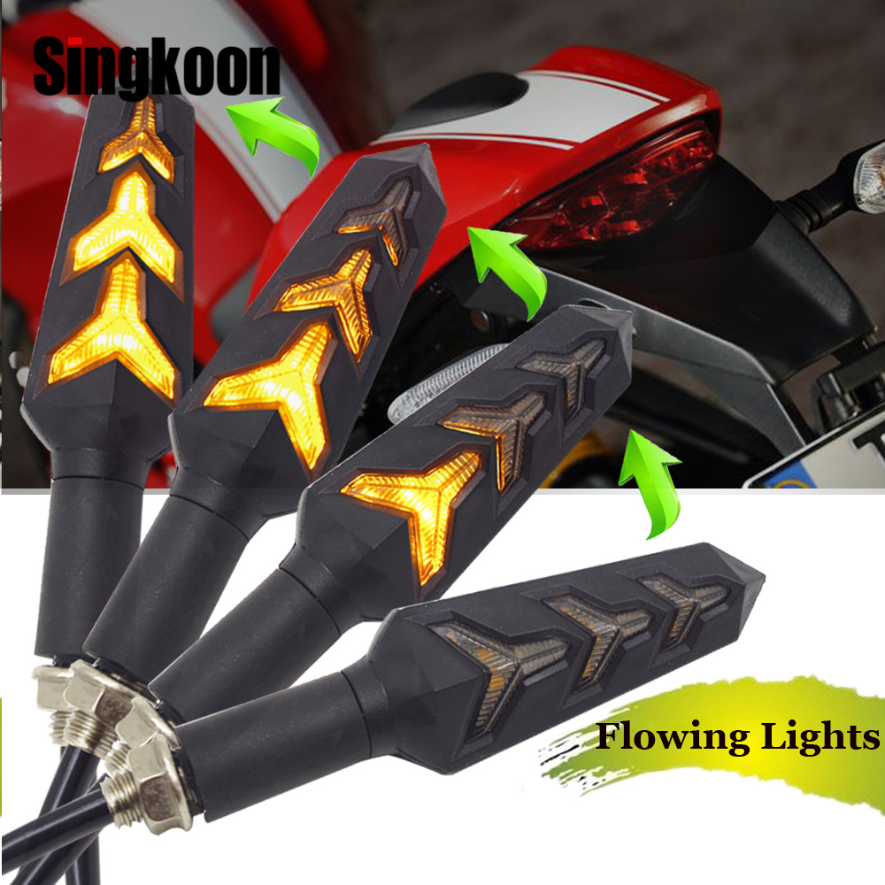 Flowing motorcycle turn signal lights Lamp LED clignotant moto Blinker FOR DUCATI Monster 4006009001100 M400 M900 696 848