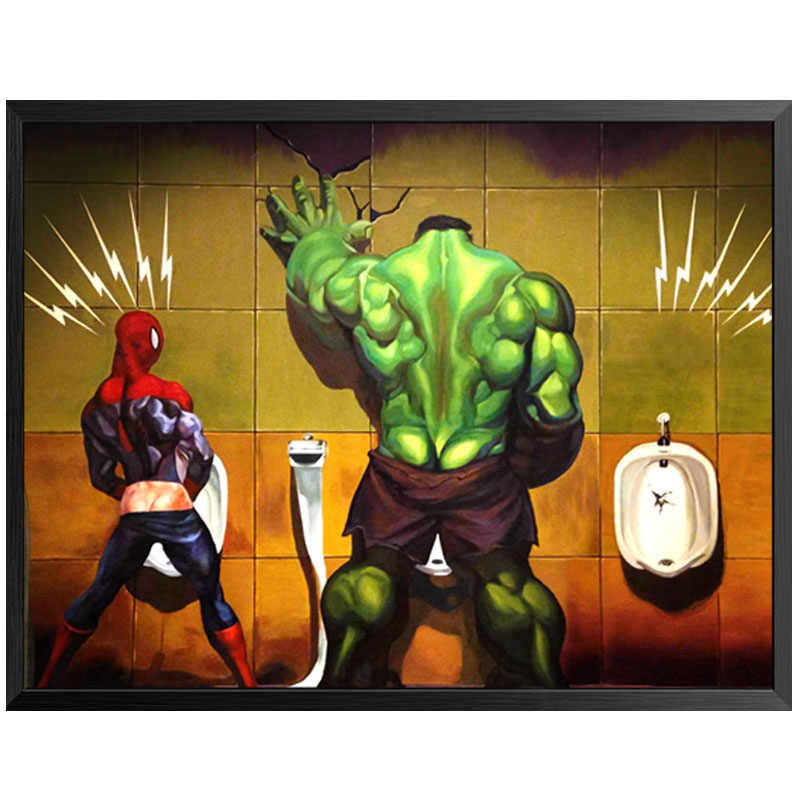Funny Toilet Bathroom Picture Nordic Poster Posters And Prints Wall Art Canvas Painting Wall Pictures For Living Room Unframed