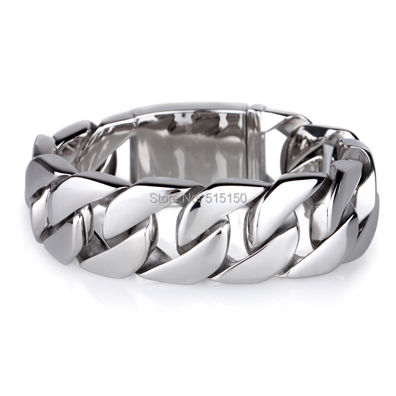 8.66 Best Selling Fashion Jewelry Chain 100% Pure 316L Stainless Steel Christmas Gift Mens Bracelet