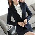 2017 Fashion Women Brazers S-5XL Single Button Ladies Elegant Office Suits Black Spring Jacket Coat Outerwear Feminino E697