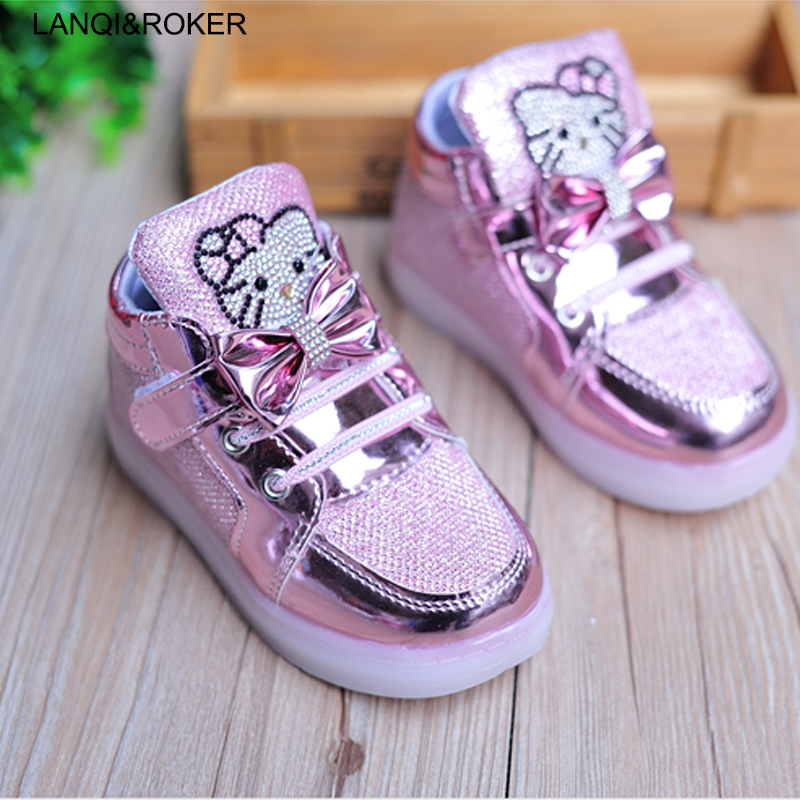 Fashion Kids Shoes For Girls Light Up Shoes Baby Boys