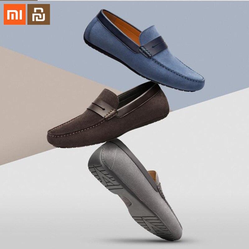 Xiaomi mijia mocassin en daim pour hommes en peau de porc pour chaussures pour hommes d'été en daim confortable