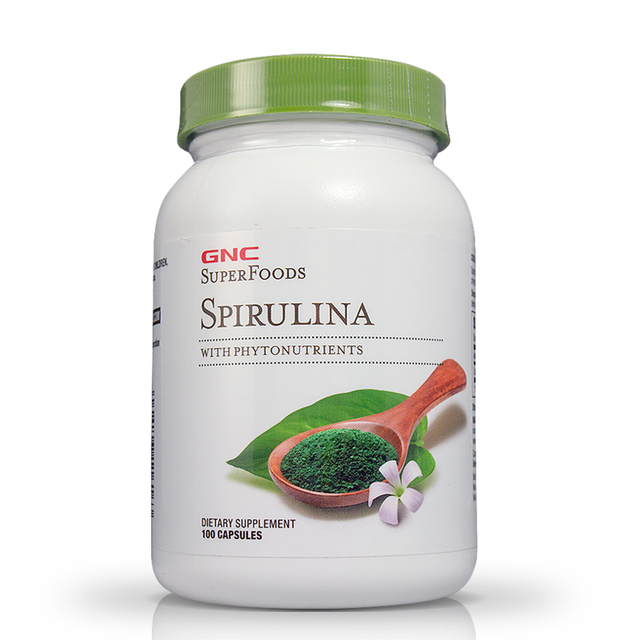 SuperFoods Spirulina With Phytonutrients 100 capsules  Free shipping