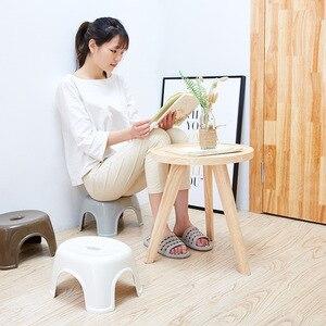 Image 1 - Moda Simples Função Chuveiro de Plástico Fezes Tamborete de Banheiro Antiderrapante Grosso Criativo Pequeno Banco Banheiro Mobiliário Móveis Para Casa