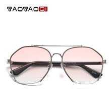 New brand women sunglasses, metal frame sunglasses men, elliptical color film