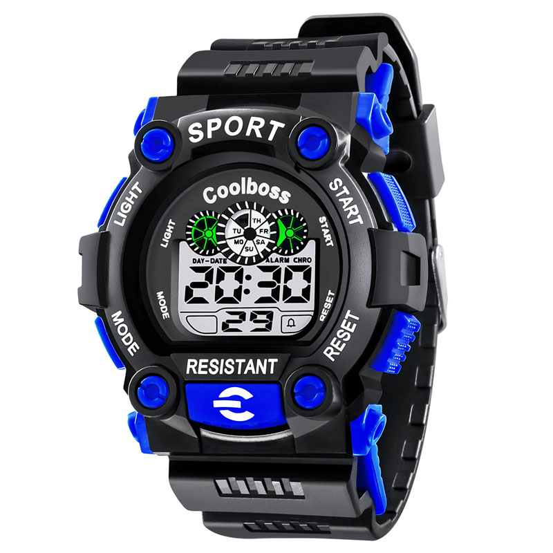 COOLBOSS Sport Student Children Watch Kids Watches Boys Clock Child LED Digital Wristwatch Electronic Wrist Watch for Boy Gift new fashion design unisex sport watch silicone multi purpose date time electronic wrist calculator boys girls children watch