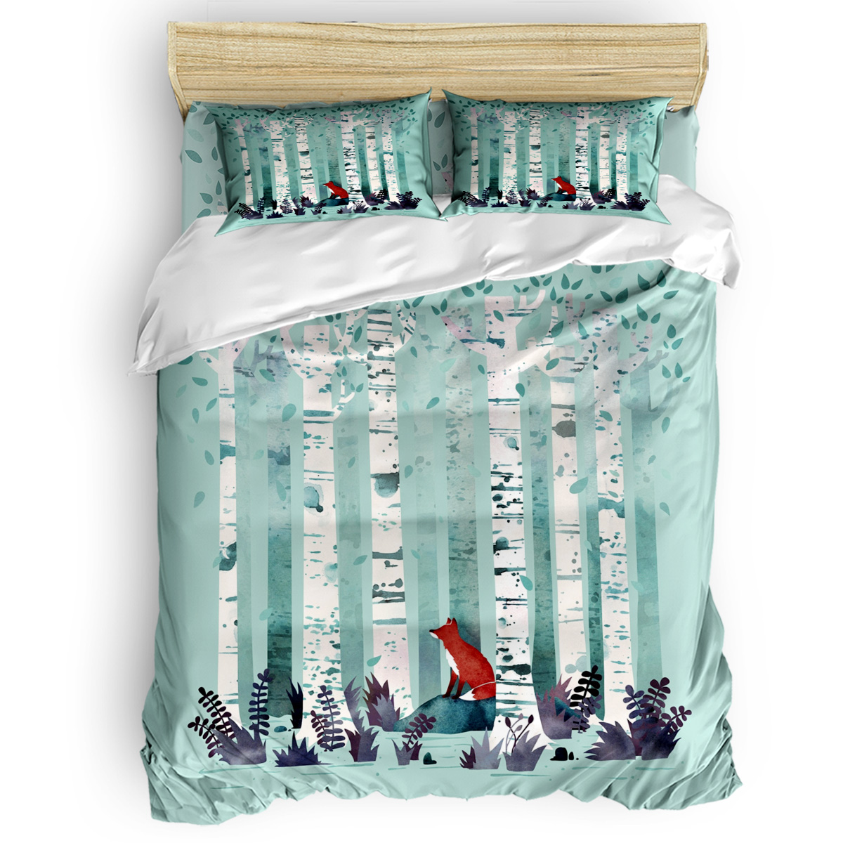 The Birches Duvet Cover 3D Cotton Duvet Cover King Size Queen Size Quilt Cover Set Bedclothes Comforter Single Bedding SetsThe Birches Duvet Cover 3D Cotton Duvet Cover King Size Queen Size Quilt Cover Set Bedclothes Comforter Single Bedding Sets