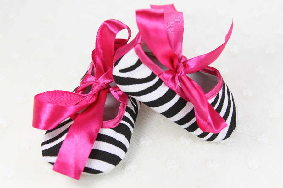 Bebê recém-nascido meninas bowknot vestido princesa sapatos sola macia pram anti-deslizamento prewalkers casuais primeiros caminhantes sapatos de pano