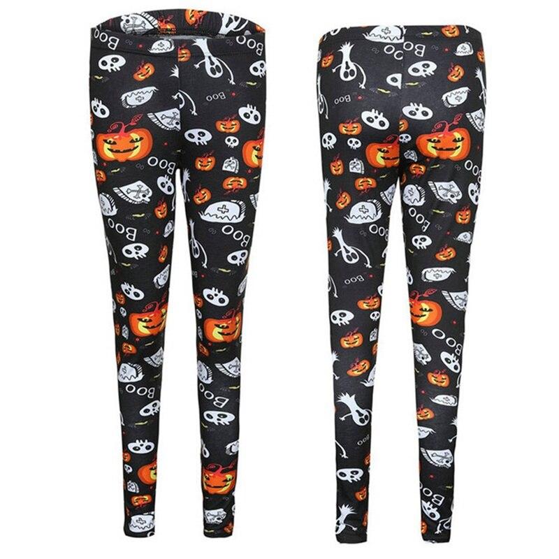 2018 Women Leggings Halloween Haunted House Pumpkin Lantern Leggings Women Slim Skinny Women Bottoms Fitness Printing Pants
