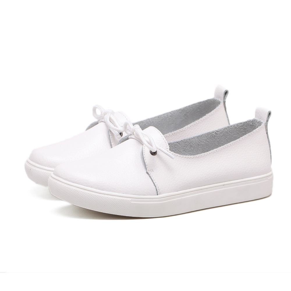Women Flats Casual Slip On Loafers Women Shoes Genuine Leather Comfortable Soft Bottom Flat Shoes Mother Shoes Nurse Shoes large yards soft bottom flat ballerina shoes retro embroidery women shoes comfortable soft bottom casual shoes female ayakkab