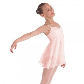 цена Ballet dress for girls dance dress empire lyrical dress camisole chiffon dance skirt ballroom ballerina dress kids dancewear онлайн в 2017 году