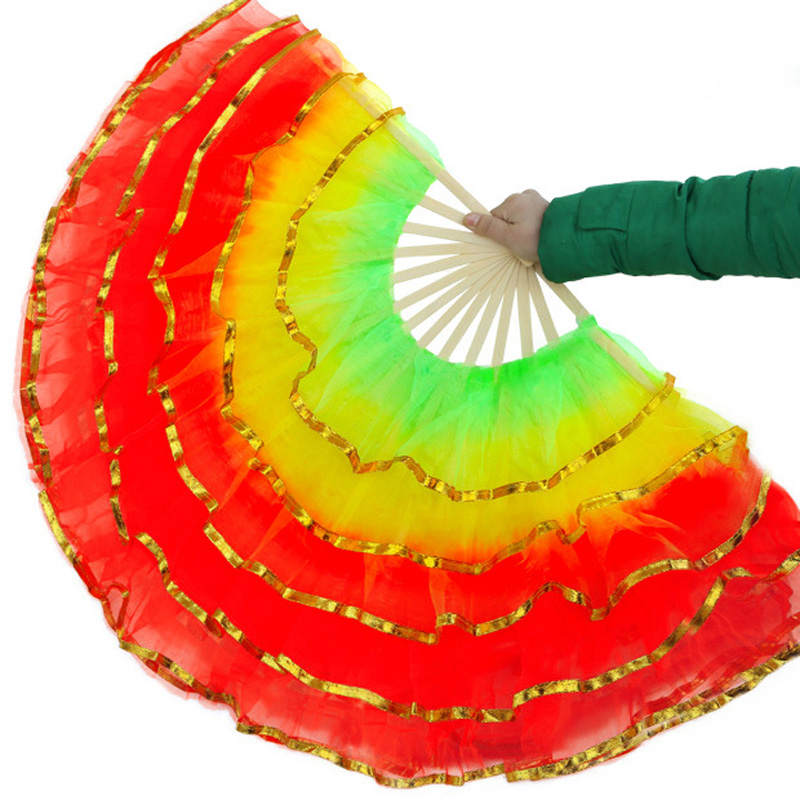 50pcs lot Nice Belly Dance Fans For Ladies Good Quality Performance Fans for Party Wedding Wholesale