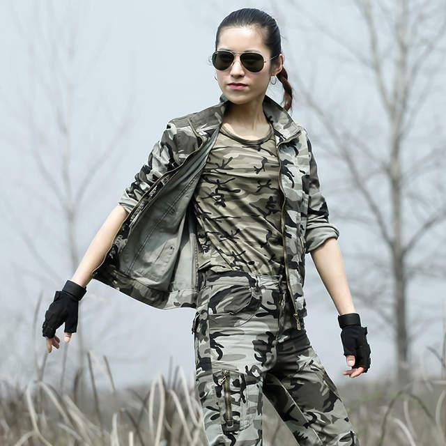 placeholder Uniformes Para As Mulheres Camuflagem Do Exército de Combate  Tático militar CS Uniforme Jaqueta Tactico Carga 37a61633b4f67