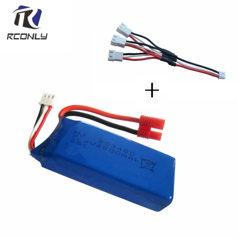2500mAh 7.4v lipo Battery for Syma x8c X8G X8W X8G X8HC X8HW X8HG for RC Quodcopter Parts 7.4v Battery Spare Toys battery