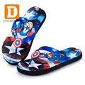 2017 Cartoon Children Slippers Spider Man Boys Slippers Captain America Beach Summer Kids Slippers Indoor Shoes Home Sandals