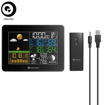 Digoo DG-TH8868 гигрометр термометр беспроводной полноцветный экран цифровой USB открытый атмосферное давление метеостанции датчик