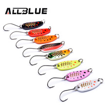 ALLBLUE 4g 30mm Copper Spoon Fishing Lure Metal Lures Hard Baits MOMO Spoon Mixed Colours Isca Artificial Trout Lure