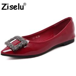 Ziselu 2017 new pointed toe crystal women flats spring autumn pu leather slip on shallow flats.jpg 250x250
