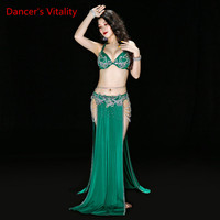 New Oriental Dance Suit Women Belly Dance Performance Sexy Bra+Skirt+Belt+Underpants Dance Competition Suit