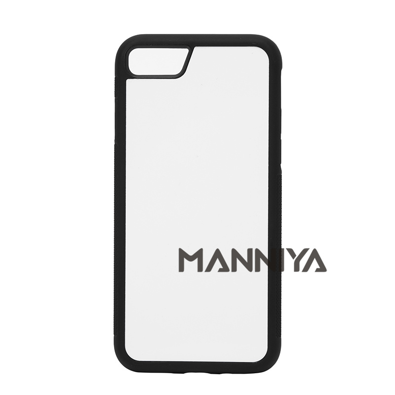 bilder für MANNIYA Blank 2D Sublimation TPU + PC Fall für iphone 7 mit Aluminium-einlagen und kleber Freies Verschiffen! 100 teile/los