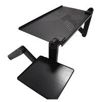 Práctico Ajustable Plegable Portable del Ordenador Portátil Soporte De Mesa Bandeja Para Sofá Cama Escritorio de la Computadora Negro