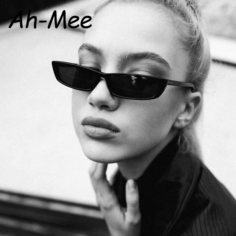 2019 Small Rectangle Frame Sunglasses Women Retro Brand Designer Sun Glasses Sexy Cat Eye Ladies Black Eyeglasses