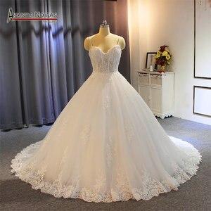 Image 1 - Vestido de noiva cinghie abito da sposa in pizzo con corpetto trasparente sexy del vestito da sposa