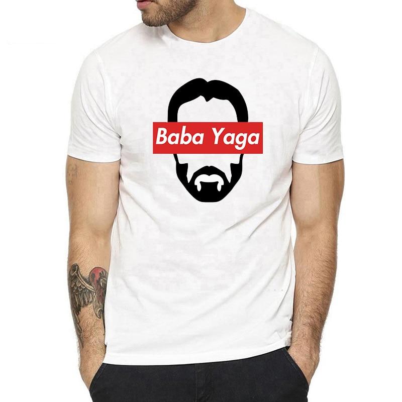 John Wick Baba Yaga Keanu Reeves Men's White   T  -  shirt   Tee Harajuku Streetwear Aesthetic Short Sleeve Cotton   T     Shirt