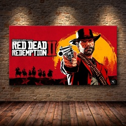 1 Piece Canvas Poster Video Games Red Dead Redemption 2 Arthur Morgan Gutch's Gang Western Game Wall Painting Home Decor