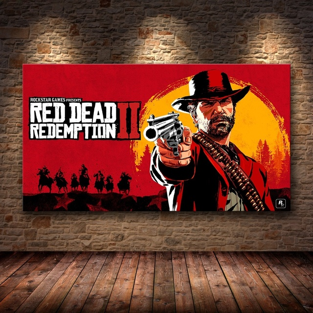 1 Piece Canvas Poster Video Games Red Dead Redemption 2 Arthur