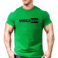 Muscleguys Brand bodybuilding t shirt mens cotton tshirt fitness men gyms Clothing tracksuit Shirt workout Tee shirt Homme