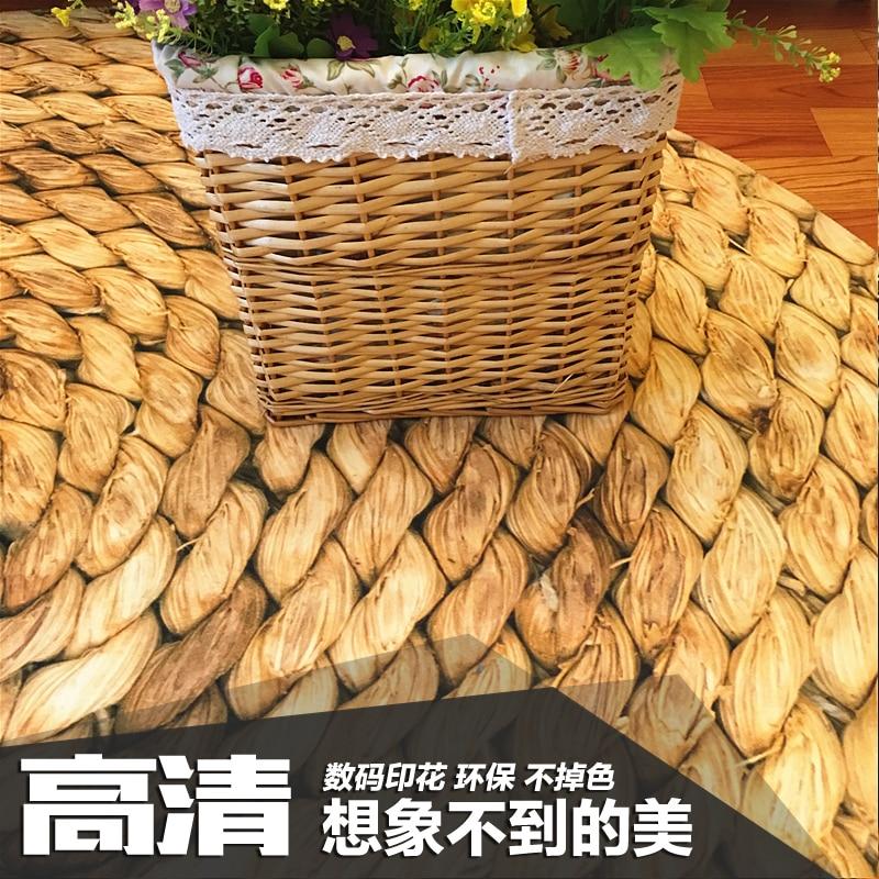 Grand tapis rond 120 cm tapis japonais moderne minimaliste salon chambre table basse ronde chaise pivotante tapis - 3