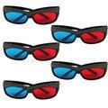 3D VR gafas Nuevo 5 x Rojo/Estéreo Azul Gafas 3D Make Ojos Ven Efecto 3D Movie Game alta calidad caliente JAN4