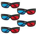 3D VR glasses New 5 x Red/Blue Stereo 3D Glasses Make Eyes See 3D Effect Movie Game high quality hot JAN4