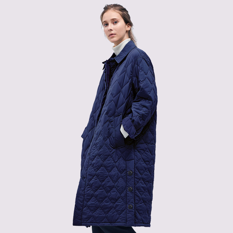 2018 New High Quality Quilted Spring Autum Women's   Parkas   Windproof Warm Thin Women Coat Long Plus Size Cotton Jackets