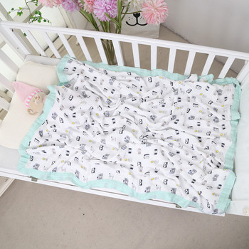 Cotton Four-layer Bamboo Baby Muslin Swaddle Baby Gauze Blanket Gauze Towel Children Cartoonl Kindergarten Blanket fox muslin quilt four layer bamboo baby muslin blanket muslin tree swaddle better than aden anais baby blanket infant wrap